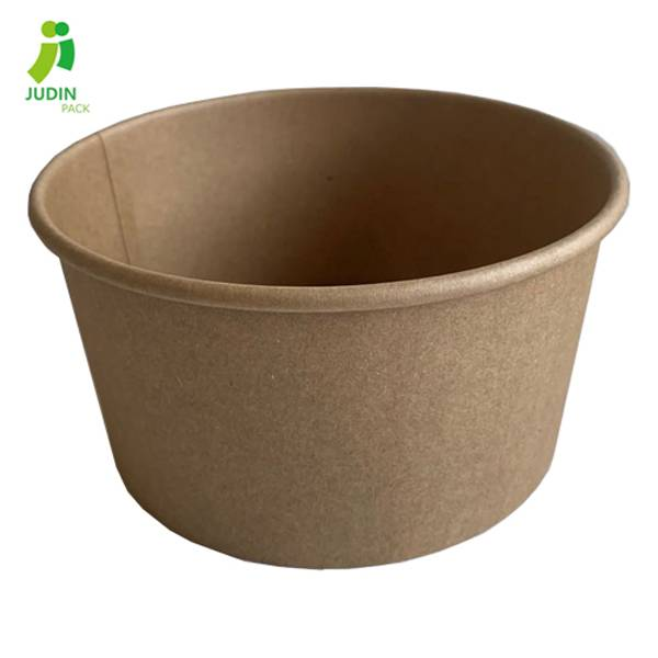 Professional Design China 1250ml Disposable Kraft Salad Bowl