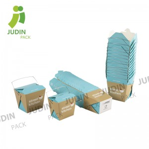 China Wholesale Biodegradable Paper Noodle Box Factories - Square Base Noodle Box – Judin Packing