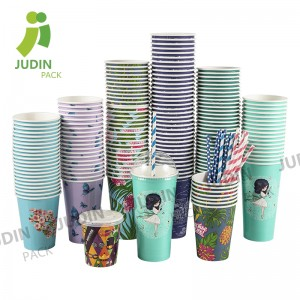 Factory wholesale Thick Wall Paper Coffee Cups - Cold Single Wall Cup – Judin Packing
