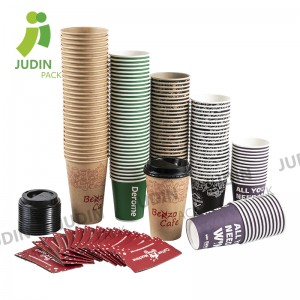 Factory Price For Custom Made Coffee Cup Carrier - Hot Single Wall Cup – Judin Packing