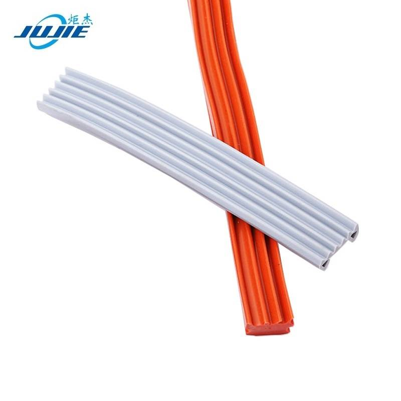 Chinese wholesale Silicone Door Seal Strip - Heat resistance silicone rubber extrusions oven door edge trim seal strip – Jujie