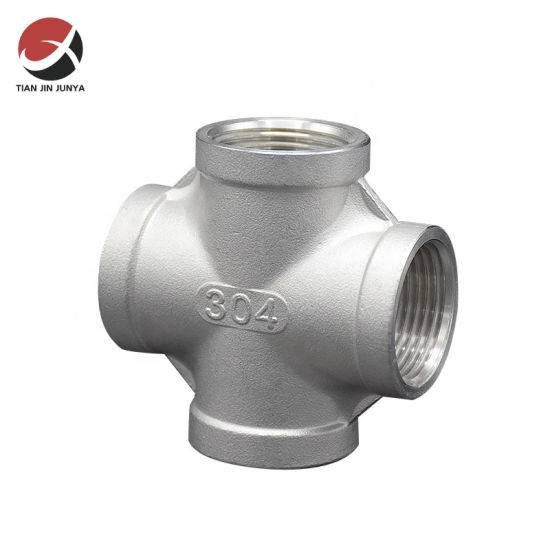 Factory Price Pipe Hangers And Clamps - Thread Casting Connector Pipe Fitting Stainless Steel 304 316 Female Reducing Cross Pipe Fitting Plumbing Accessories – Junya