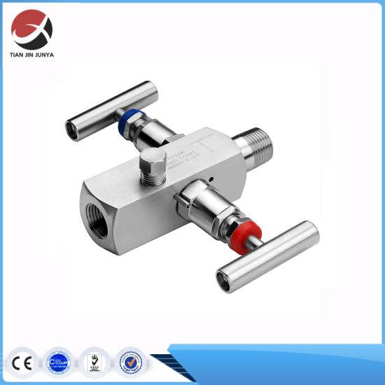 Block and Bleed Valve Double Instrument Stainless Steel 304 316 Compressor Two Handle Valve Gauge Bottom Steam Manifold Valve