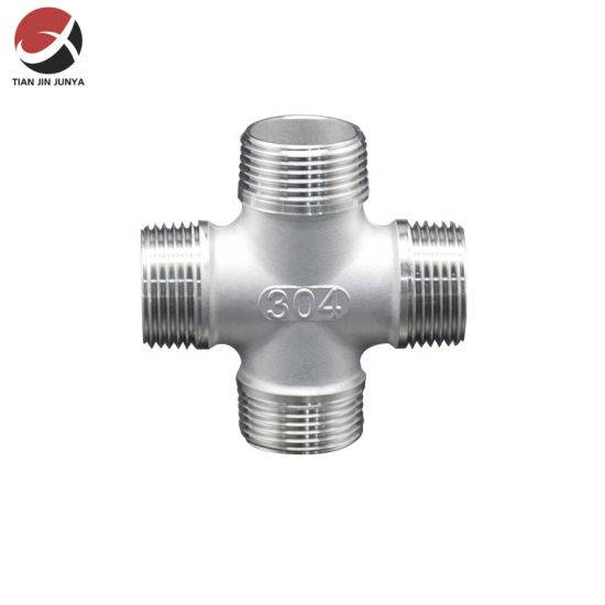 Discount wholesale Semi-Automatic Coffee Espresso Machine Parts Steam Pipe - DIN Amse ISO Standard Connector Pipe Fitting Thread Casting Male Stainless Steel 304 316 Cross Used in Bathroom Plumbin...