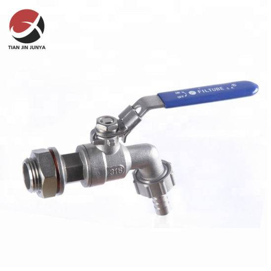 Junya Stainless Steel 304/316 OEM Supplier Keg Beet Tap/Ball Valve Tap Non Return Compressor Valve/ Hydraulic Solenoid Valve Used in Bathroom/Toilet Plumbing
