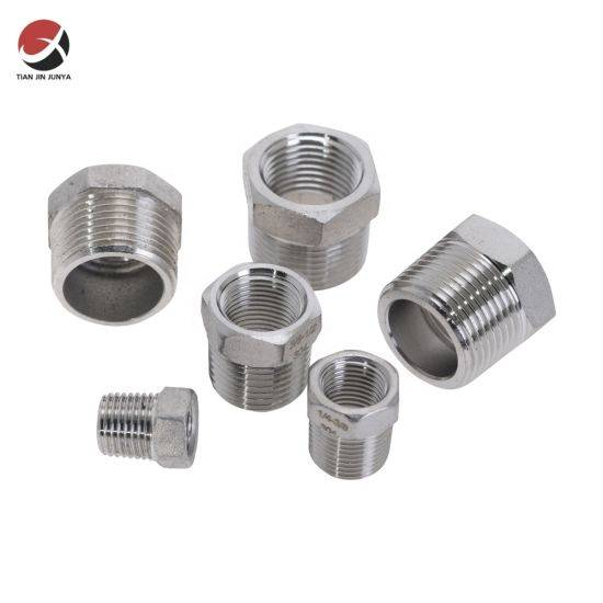 ANSI/JIS/DIN Standard Precision OEM Bsp Thread Stainless Steel Pipe Fitting Reducing Bushing Male to Female Reducer, Connector Plumbing Hardware/Accessories