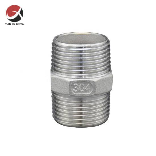 Factory Price Male Thread Casting Stainless Steel 304 316 Hydraulic Hex Nipple Pipe Fitting/Plumbing Fitting/Connector Fitting/ Sanitary Fitting