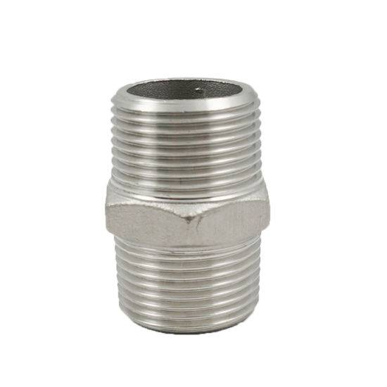 "11/4"" Stainless Steel Pipe Fitting Thread Screw Hex Nipple"