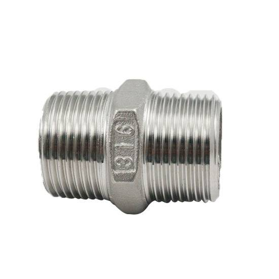 "2"" Stainless Steel Threaded Hex Hexagon Pipe Fitting Nipple"