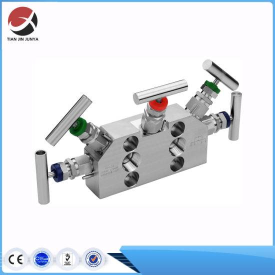 OEM Supplier Customized Stainless Steel 304 316 Solenoid Compressor Instrument Valve Manifold for Transmitter Flange End 6000psi SS316 5 Valve Manifold