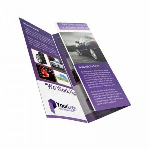 custom full color leaflet brochure flyer template printing