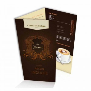 customized folded leaflet