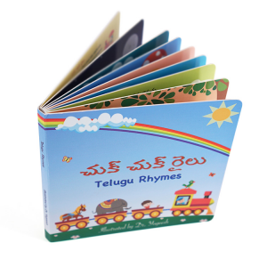 Cheap full color child cardboard book printing