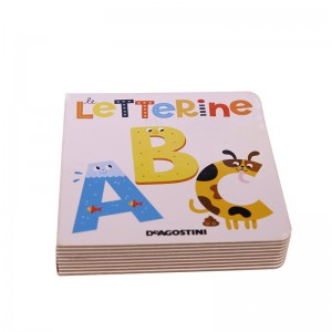 Kids board book printng custom
