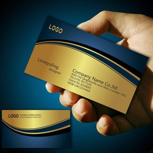 Accordion Fold Brochure Printing - custom stainless steel metal printing business card – Knowledge Printing