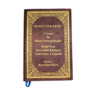 PU leather cover book printing