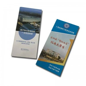 Cheap price color catalog promotion flyer folded leaflet/poster printingt