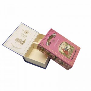 Beauty Custom decorative book boxes with magnet