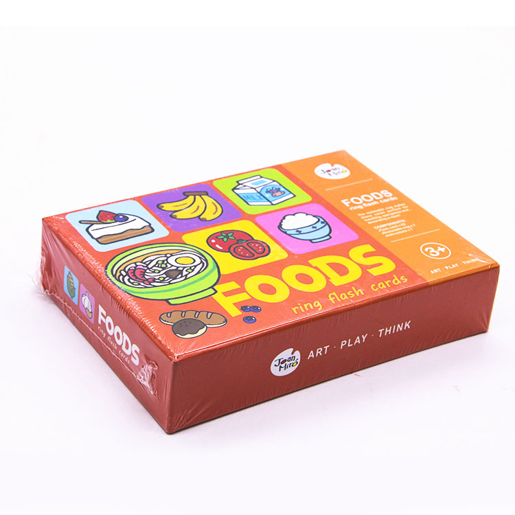 High Quality for Abc Flash Cards - Custom Kids Educational Flash Cards With Pp Ring – Knowledge Printing detail pictures