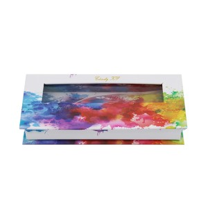 Watercolor Effect Eyelash Box With Window
