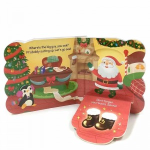 children hard cover board Christmas Santa story books