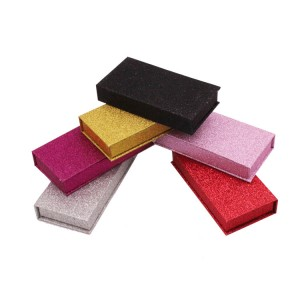 Rectangle Glitter Paper Eyelash Box