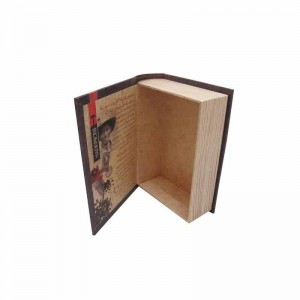 cardboard fake Book Shaped empty tea box