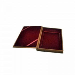 Custom logo cardboard book shaped gift packaging storage box