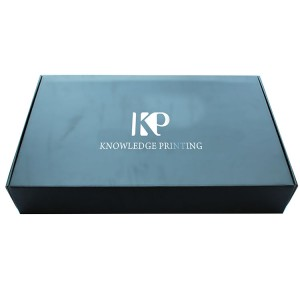Wholesale Price Ivory Cardboard Box - Black Mailer Box For Clothing With Hot Stamping Logo – Knowledge Printing