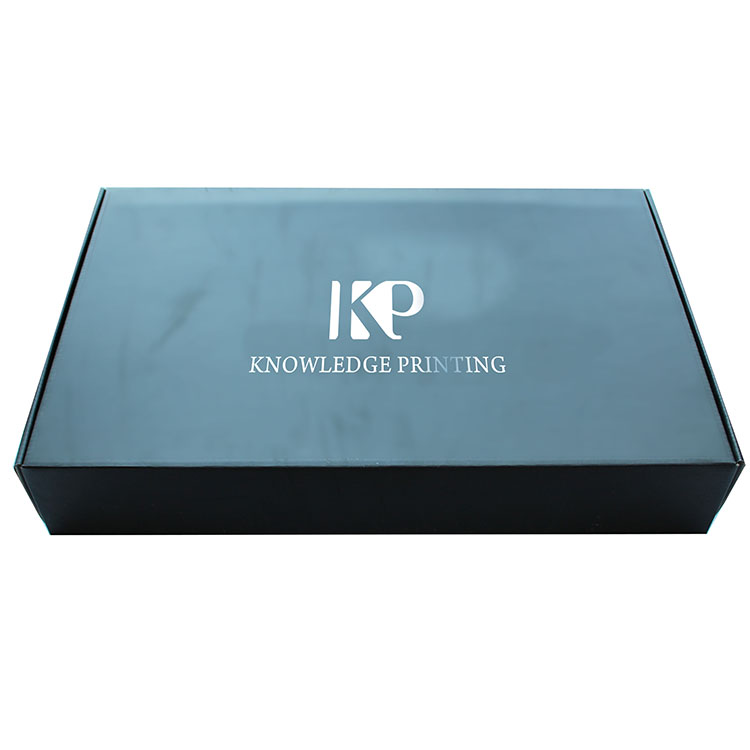 Well-designed Decorative Book - Black Mailer Box For Clothing With Hot Stamping Logo – Knowledge Printing