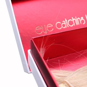 Lid And Bottom Packaging Box For Wig Or Clothing