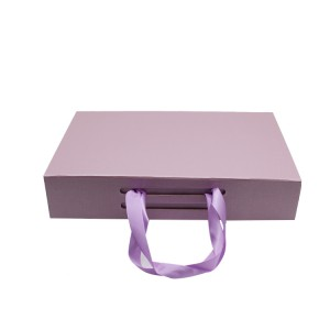 Pink Folding Clothing Box With Ribbon Handle