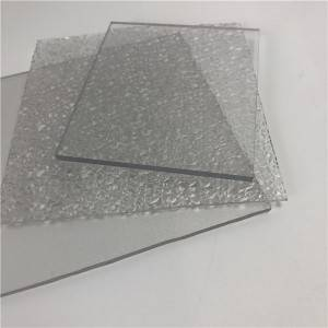 Factory directly supply Transparent Polycarbonate - Sabic Bayer raw material pc clear lexan de policarbonato embossed sheet – JIAXING