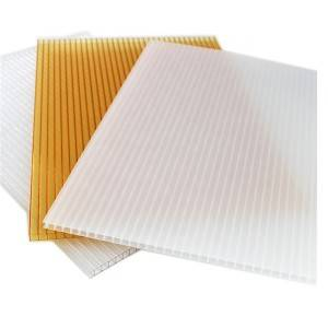 Factory For Silver Polycarbonate Sheet - Pc Twin-Wall Transparent 8Mm Polycarbonate Hollow Sheet – JIAXING