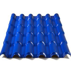Cheapest Price 4 Layer Asa Roof Tile - Rome Type Synthetic Resin ASA Coating Pvc Roof Tiles – JIAXING