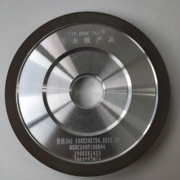 diamond & cbn grinding wheel for bi-metal band saw blades side angle 3A1 100X20X7X4.2