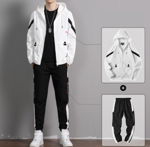 Polyester Tracksuit High Quality Tracksuit Latest Fashion Slim Fit TracksuitTracksuits Set Men Tracksuit Sweatsuit Custom Tracksuit  summer Mens Tracksuit Hoodie Sets Mens Tracksuit 2 Pieces Set Me...