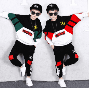 Spring Autumn Baby Boys Girls Cotton Clothes Children Letter Hooded Pants 2Pcs/sets Infant Kid Fashion Toddler Casual Tracksuits
