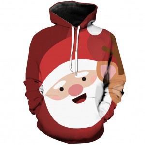 Unisex Christmas Hoodies Men Funny Hooded Sweatshirts Winter Women Clothes Santa Claus Fashion 3D Digital Printing Hoodie