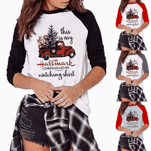 tshirt printing tshirt women custom Christmas women long sleeve t shirts