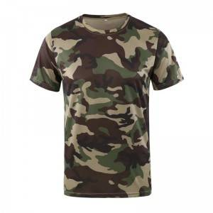 Famous Best Ladies T-Shirt Exporters - Men's Outdoor Quick Dry T-Shirt Hunting Camouflage Military Tops Short Sleeve Breathable Army Combat Tactical Camo Camp T Shirt – Kaishun