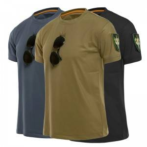 Outdoor Sport Tactical T-Shirts Men Military Hiking Tee Shirt Special Arms Loose Cotton Quick Dry Solid Color Breathable T Shirt