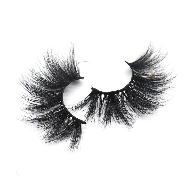 China Factory Wholesale 3d Lashes Cheap Natural Thick Long 25mm Mink Eyelashes
