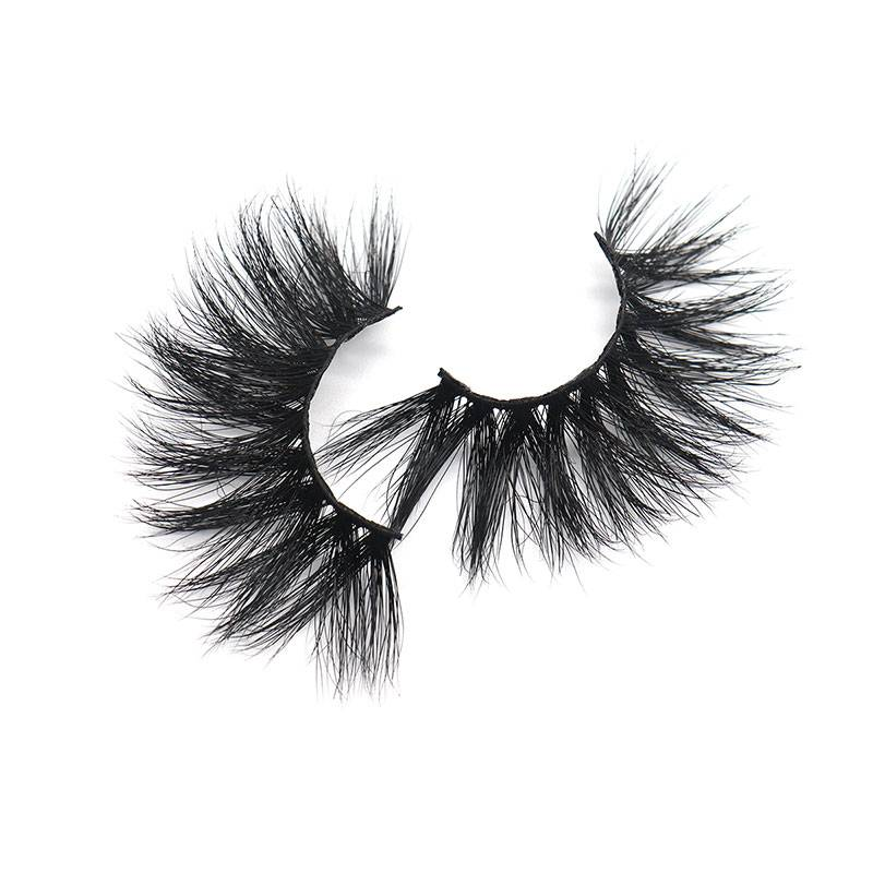 Wholesale Custom Private Label 3d Luxury False 25mm Real Mink Eyelashes Vendor