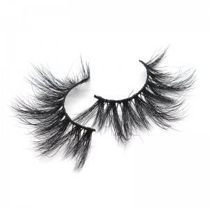 Wholesale 100% Real Fake False Eye Lashes Vendor 3D 5D 25mm 25 mm Mink Eyelashes with Private Label Custom Package Boxes