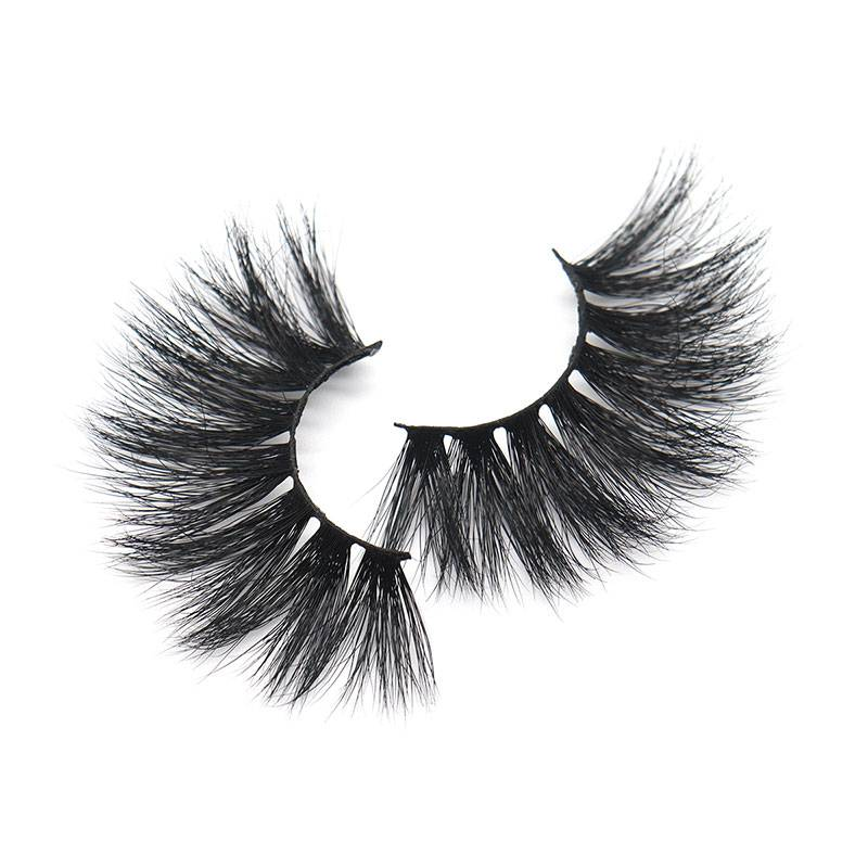 China Factory Cheap Wholesale Lashes OEM False Mink Eyelashes Vendor 25mm Featured Image