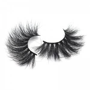Printing with Your Logo Wholesale Mink Lashes 5D 25mm False Eyelashes