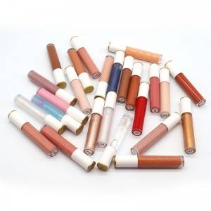 OEM Shiny Liquid Lipstick Moisturizing Cruelty Free Custom 25 Colors Makeup Lip Gloss