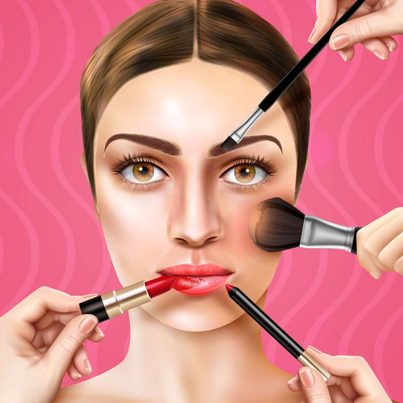 How to apply makeup, make it easy in 5 steps