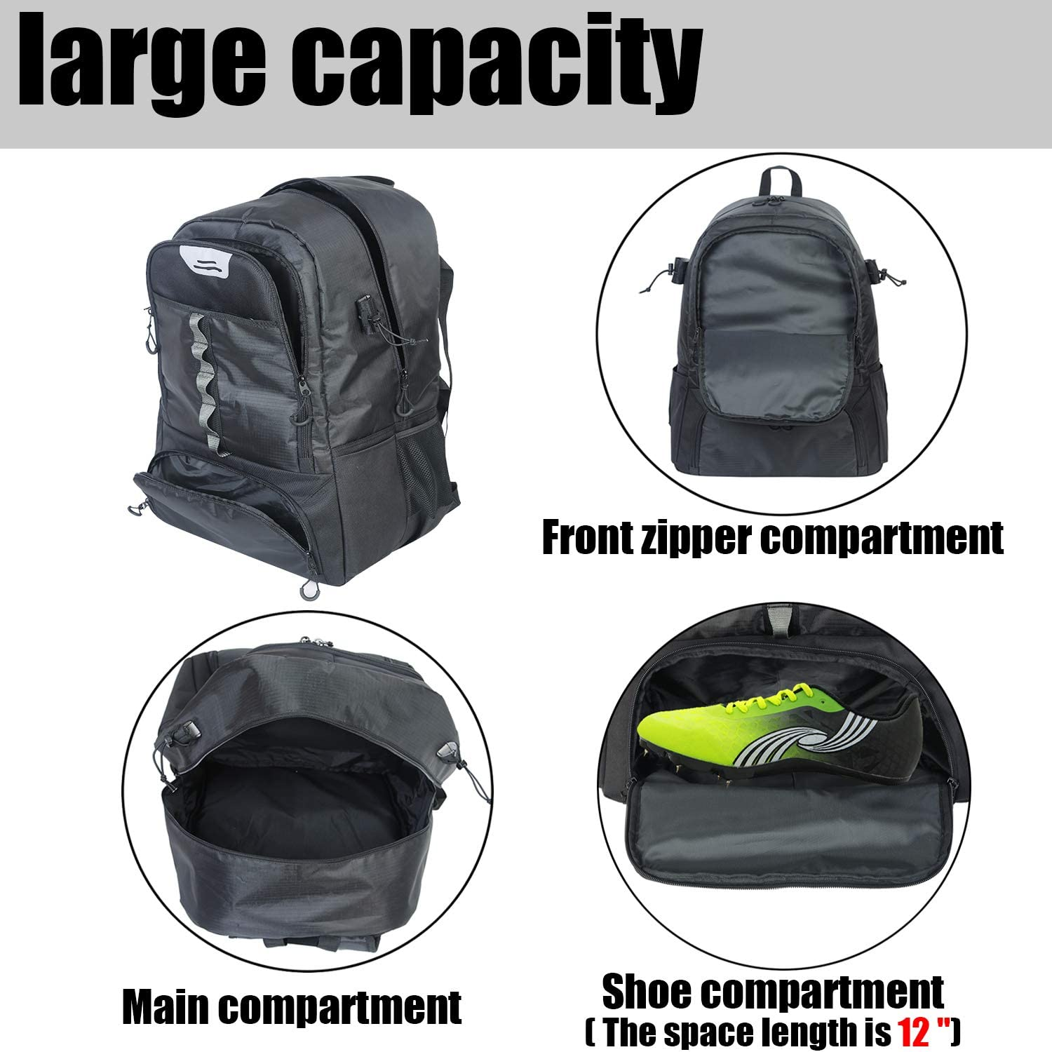 China High Quality Solar Backpack Factory –  Custom Large Capacity Hockey Equipment Backpack – Kinghow